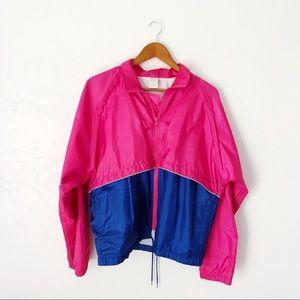 90s Hot Pink Windbreaker